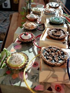 Miniature Pie Necklaces