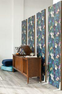 moody floral studio flats