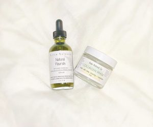Natural Flourish Facial Serum and Collagen Mask
