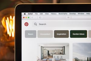 pinterest on a laptop, blog to pinterest workflow