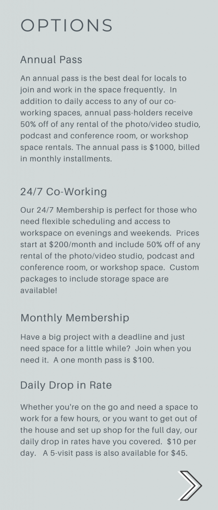 wv coworking prices