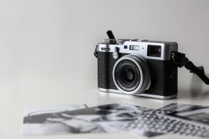 wv community darkroom, film camera and test prints