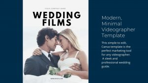 videographer wedding guide template