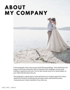 wedding videographer template