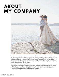 wedding videographer template