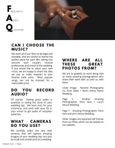 videographer wedding guide