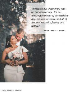 videographer wedding magazine