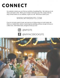 print marketing for wedding videographers
