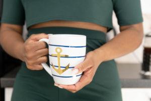 branding photography, close up of a coffee mug